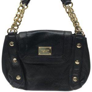 Michael Kors Black Large PU Leather Tote Bag